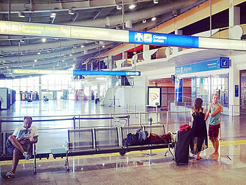 Terminal - arrivals area