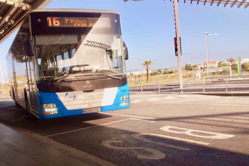 Faro airport bus stop