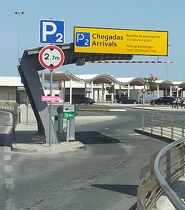 Park P2 at Faro airport - arrivals