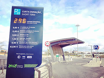 Entrance to car park P1 - departures