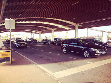 Taxi rank at Faro airport