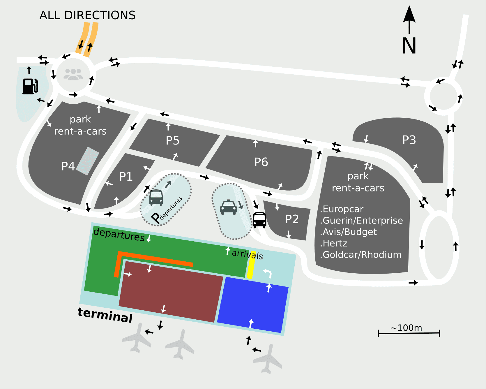 Parking at faro airport for Location parking